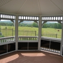 vinyl 16 foot octagon gazebo interior