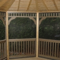 wooden 12 by 16 foot oval gazebo interior