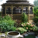wooden 10 by 16 foot oval gazebo